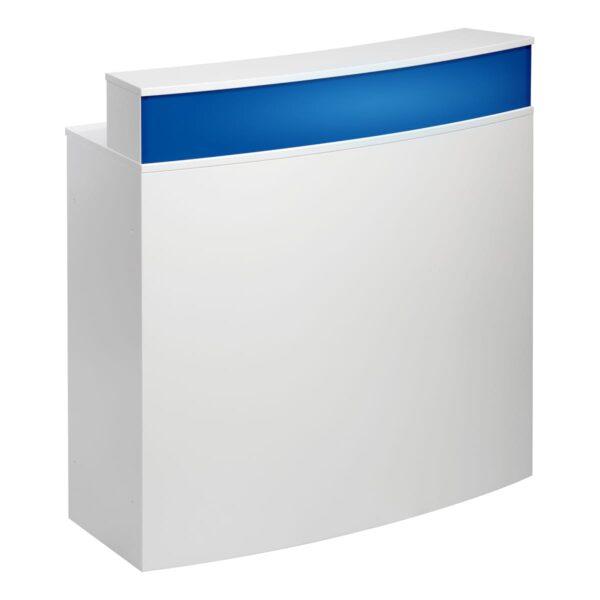 Theke Bianco Curve, weiß-blau