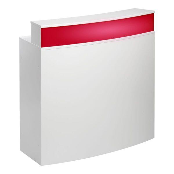 Theke Bianco Curve, weiß-rot