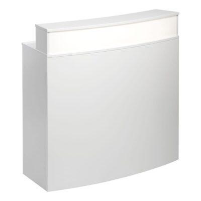 Theke Bianco Curve, weiß-weiß
