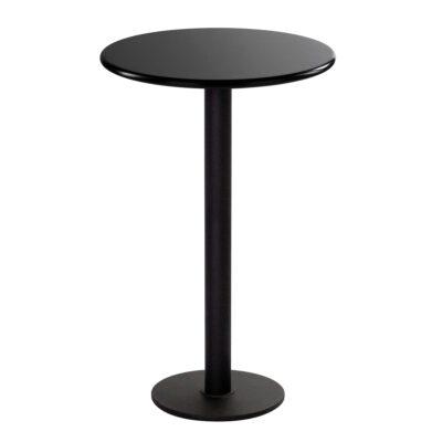 Table debout Modo, ronde, noire