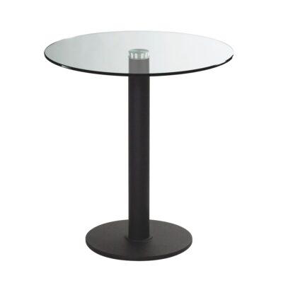 Sitztisch Modo, rund, Klarglas