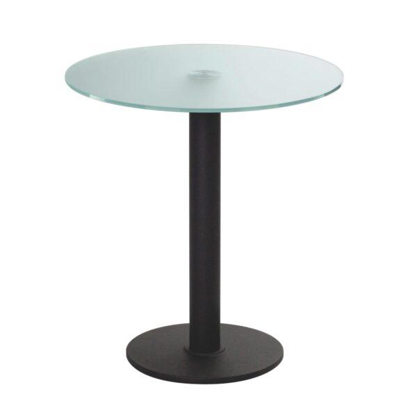 Sitztisch Modo, rund, Satinglas