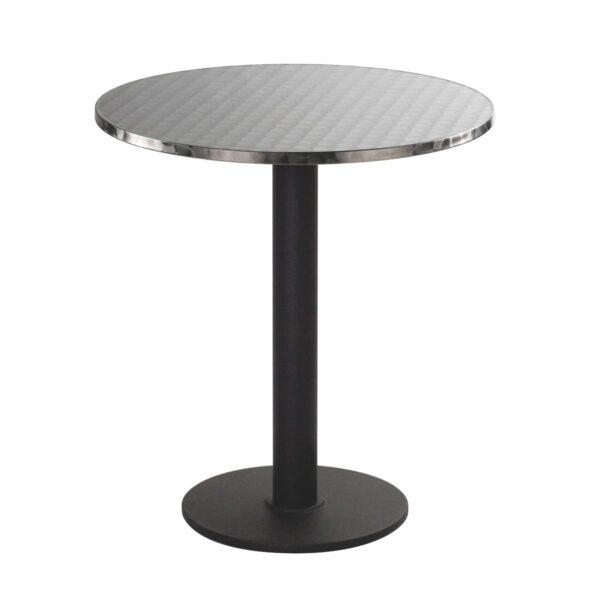 Sitztisch Modo, rund, Inox