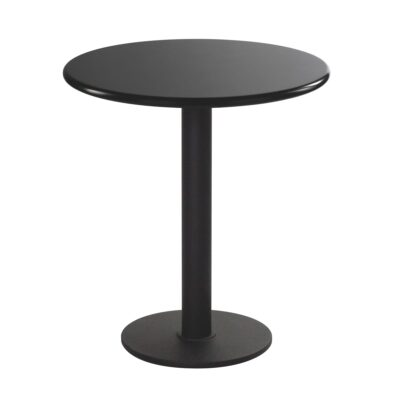 Table d'assise Modo, ronde, noire