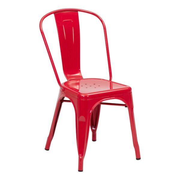 Chaise Xavier, rouge
