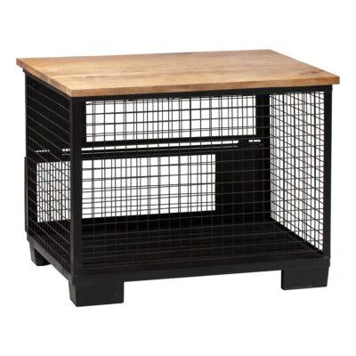 Buffettheke Cage, Massivholz-schwarz