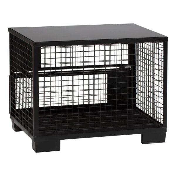Buffettheke Cage, schwarz-schwarz
